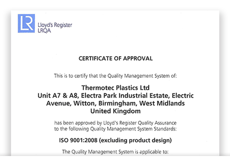 Thermotec Plastics www.thermotecplastics.co.uk Tel: 0121 327 7800